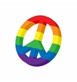 LGBT peace sign icon cartoon style vector image vector image