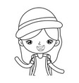 little tourist girl character vector image vector image