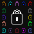 Lock icon sign Lots of colorful symbols for your vector image vector image