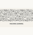machine learning banner concept vector image vector image
