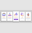 metallurgical onboarding elements icons set vector image