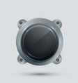 modern speaker on gray background vector image vector image