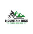 mountain bike sports logo vector image