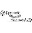 musical vortex vector image vector image