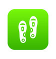 orthopedic insoles icon digital green vector image