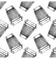 pattern with paper cup vector image vector image