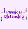 physical distancing banner concept vector image