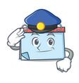 police calendar character cartoon style vector image vector image