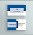 Professional business card design in blue color