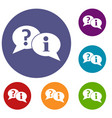 question and exclamation speech bubbles icons set vector image vector image