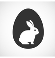 rabbit inside a egg vector image vector image