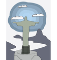 Rio de Janeiro christ statue vector image