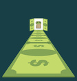 Road of dollars Path to prosperity footpath of vector image vector image