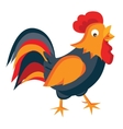 Rooster in cartoon style vector image vector image