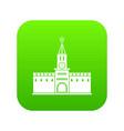russian kremlin icon digital green vector image