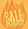 Sale parquet slope fire wooden boards vector image vector image