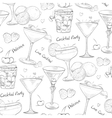 scetch pattern unforgettables cocktails vector image vector image