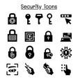 security icon set vector image vector image