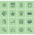 set of 16 e-commerce icons includes dollar vector image vector image