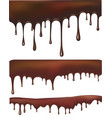 Set of chocolate drips vector image