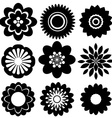 Set of floral templates vector image vector image
