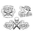 Set of vape e-cigarette emblems