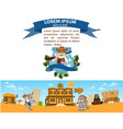sheriff police station wild west game background vector image vector image