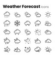simple weather forecast icon set vector image