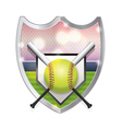 Softball Badge Emblem