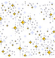 space seamless background with stars undiscovered vector image