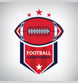 sport american football logo american style vector image