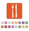 The knife and fork icon vector image vector image