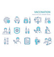 vaccine icon set collection syringe vector image vector image