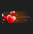 valentines day sale web banner template with red vector image vector image