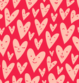 Valentines hearts pattern vector image vector image