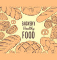 vintage bread banner with text in the center vector image