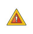 warning alert sign industrial safety fill vector image vector image