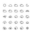 weather outline icon set vector image