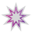 white and purple bahai star symbol on a white vector image vector image