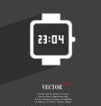 wristwatch symbol Flat modern web design with long vector image