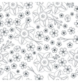 Floral spring seamless background vector image