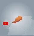morocco information map vector image