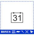 31 calendar days icon flat vector image