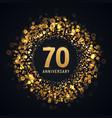 70 years anniversary isolated design
