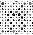 Abstract background with black circles isolated on vector image vector image