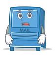 afraid mailbox character cartoon style vector image vector image