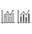 bar graph line and glyph icon growth vector image