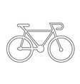 bicycle vehicle icon design vector image vector image