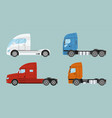 big commercial semi truck with trailer trailer vector image vector image