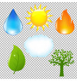 big nature eco set vector image vector image